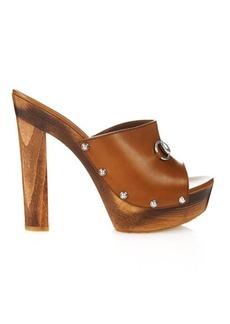Gucci Morena leather mules