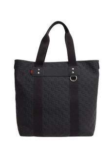 Gucci navy rubberized guccissima top handle tote bag