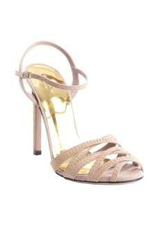 Gucci nude suede beaded detail strappy sandals