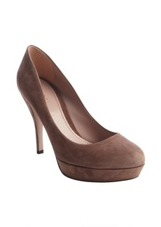Gucci old mauve suede platform pumps