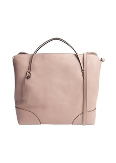 Gucci old pink leather top handle convertible tote