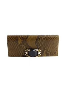 Gucci olive and moss python 'Broadway' evening clutch