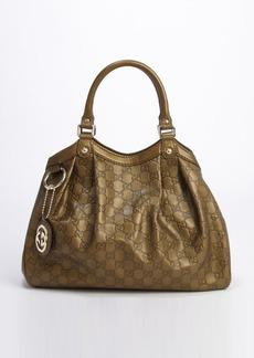 Gucci olive guccissima leather 'Sukey' shoulder bag