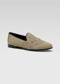 Gucci Oona Rhinestone Smoking Shoe