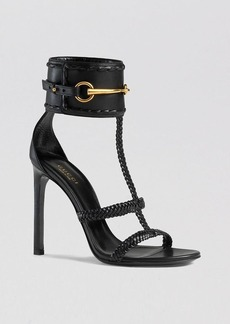 Gucci Open Toe Ankle Strap Sandals - Ursula High Heel
