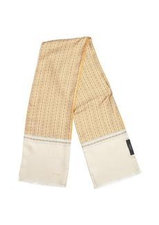 Gucci orange and beige multi-pattern horsebit print scarf