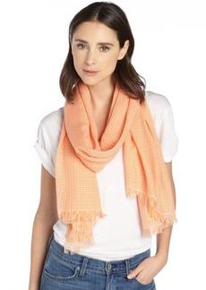 Gucci orange and white cotton-silk plaid scarf