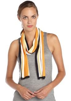 Gucci orange striped cotton scarf