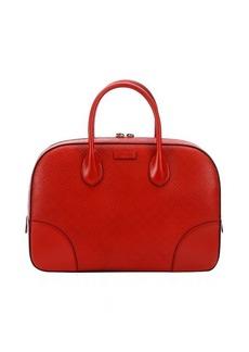 Gucci oxidation diamante leather convertible top handle bag