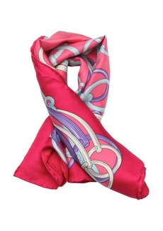 Gucci pink and purple ring printed silk scarf