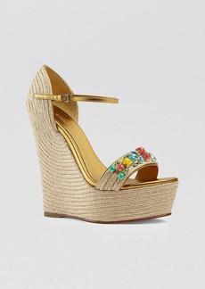 Gucci Platform Espadrille Wedges - Carolina Jeweled