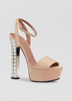 Gucci Platform Evening Sandals - Leila Crystal High Heel