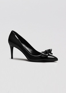 Gucci Pointed Toe Pumps - Clodine Patent Bow