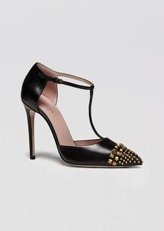Gucci Pumps - Coline Studded T Strap High Heel