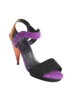 Gucci purple and orange suede strappy sandals