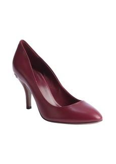 Gucci purple charm heel 'Nappa Charlotte' leather pumps