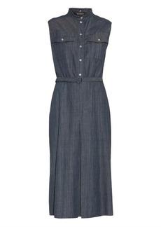 Gucci Python-collar denim dress