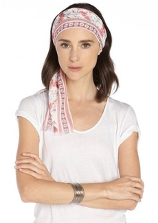 Gucci red and white cotton pattern printed head scarf