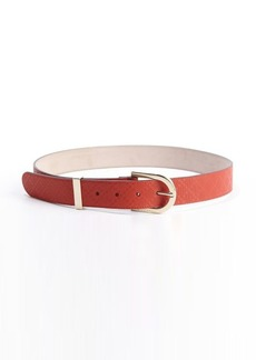 Gucci red diamante leather belt
