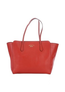 Gucci red leather 'Swing' medium tote