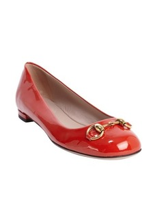 Gucci red patent leather 'Jolene' ballet flats
