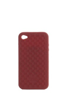 Gucci red silicone mircro gg iphone 4 cover