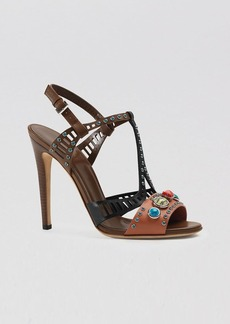 Gucci Sandals - Lika T Strap Colorblock High Heel