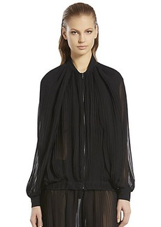 Gucci Silk Blouson Pleat Blouse