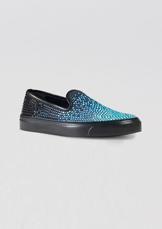 Gucci Slip On Sneakers - Mitte Crystal