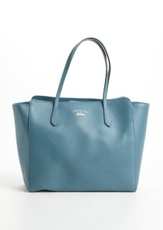 Gucci teal leather 'Swing' medium tote