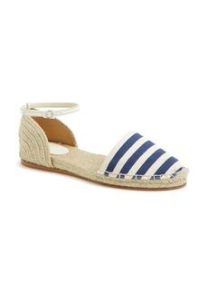 Gucci 'Veronique' Ankle Strap d'Orsay Espadrille Flat (Women)