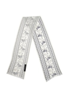 Gucci white and blue cotton pattern printed head scarf