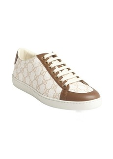 Gucci white and brown GG printed canvas sneakers