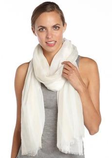 Gucci white cotton multi-color sheer printed scarf