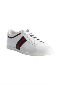 Gucci white leather signature logo sneakers