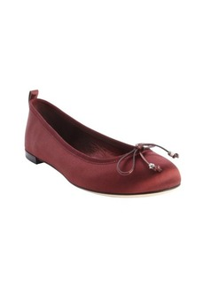 Gucci wine satin bow tie detail ballet flats