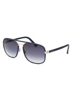 Gucci Women's Rectangle Blue Sunglasses