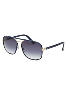 Gucci Women's Rectangle Blue Sunglasses