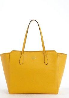 Gucci yellow leather 'Swing' medium tote