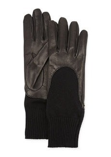 Leather-Finger Cashmere Glove   Leather-Finger Cashmere Glove