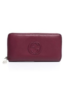Pre-Owned Gucci Soho Zip Around Wallet