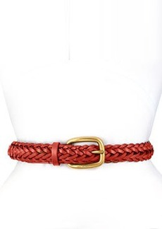Square Buckle Braided Belt, Red   Square Buckle Braided Belt, Red