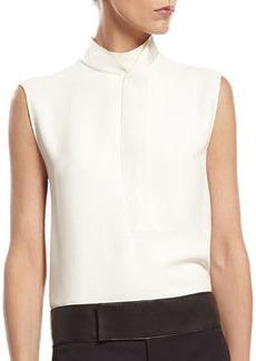 White Silk Cady Shirt   White Silk Cady Shirt