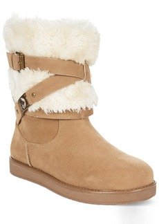 G by GUESS Women's Alta Faux-Fur Cold Weather Booties