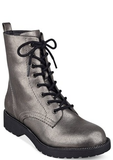 G by GUESS Women's Silvia Lace-Up Lug Combat Boots