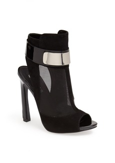 GUESS 'Anavey' Suede & Mesh Peep Toe Bootie
