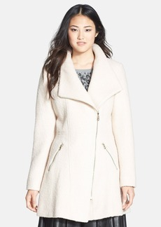 GUESS Asymmetrical Zip Bouclé Coat