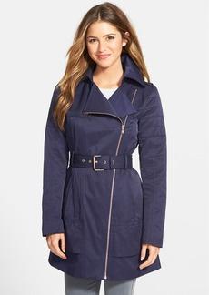 GUESS Asymmetrical Zip Trench Coat
