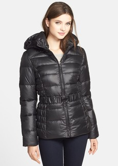 GUESS Belted Quilted Jacket with Removable Hood (Online Only)