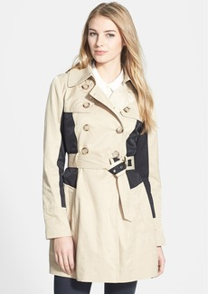 GUESS Colorblock Double Breasted Trench Coat